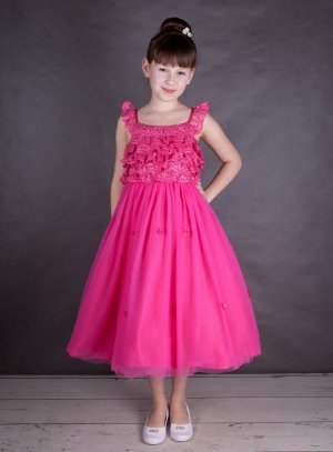 robe ceremonie rose fuschia fille