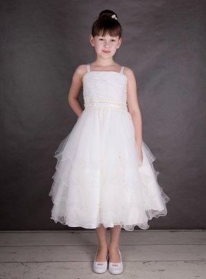 c4863d2550e8d FIN DE STOCK - Robe de demoiselle d honneur pour enfant ivoire de 2 à 12  ans modèle Aurélia