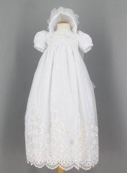 b47b6c473b82b Robe de Baptême longue pour Bébé blanche !