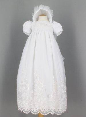 bf8ae0499d17b Robe de baptême longue avec bonnet baptême traditionnel