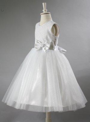 b9512f00398ce Robe cérémonie fille blanche princesse mariage ou communion modèle ...