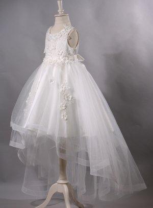 ea24274305e Robe de cérémonie mariage fille enfant avec traine