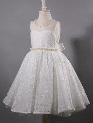 d4bb0d7602484 robe de cérémonie fille ivoire - ecru