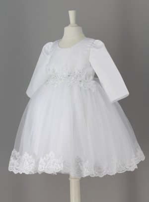 Robe Bapteme Bebe Fille Manches Longues Hiver