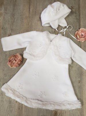 8b28f68ce57 Robe bapteme hiver bébé fille blanche Bérénice