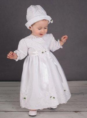 ccb0beb0fc6 FIN DE STOCK - Robe de baptême blanche pour bébé fille pas chère Ivana
