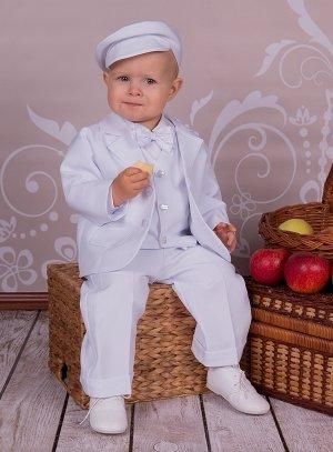 c9eda00c6de7f Costume bebe blanc une tenue de baptême garçon complète !