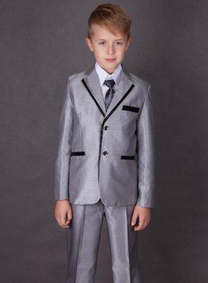 1963c22ec5a10 Costume garçon pour mariage complet gris noir