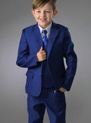 45c1e1f3dfcbf Costume mariage garçon complet bleu avec chemise et cravate
