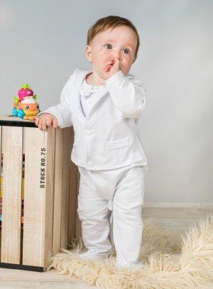231fb728c9183 Pyjama costume blanc bébé garçon baptême