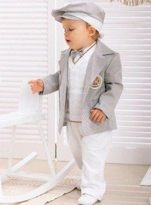 SOLDES - Costume bébé mariage avec veste et slim Beige 3d3e959807f