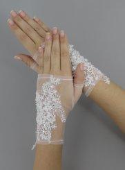 56ca530f8bde1 Mitaine mariage, gants de mariées, dentelle, perle, strass, laçage…