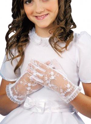 gants de communion blanc