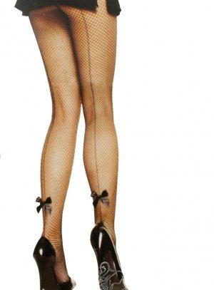 facef40c2b6d49 Collants résille noir et couture