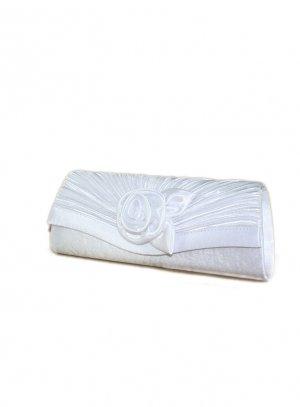 pochette de soirée, sac habillé blanc
