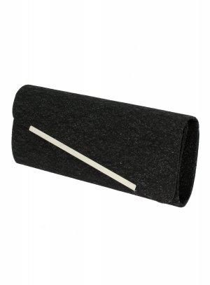 pochette de soirée, sac habillé noir