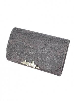 pochette de soirée, sac habillé gris