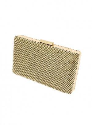 pochette de soirée, sac habillé or