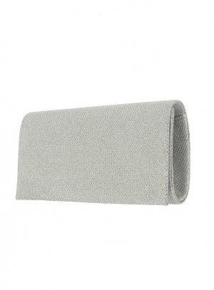 pochette mariage, sac de mariée gris argent