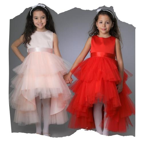 Robe Ceremonie Mariage Fille Style Princesse Avec Traine