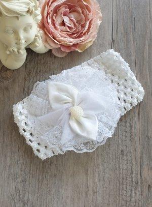 bandeau blanc bébé pour baptême