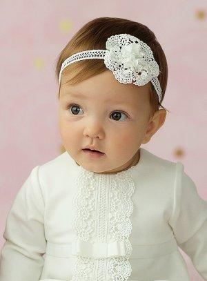bandeau bébé dentelle fait main