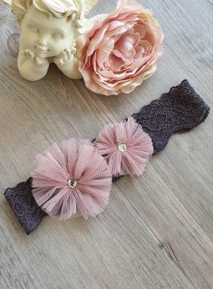 bandeau rose poudre bébé photo mariage