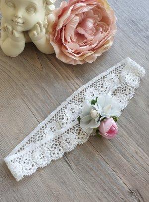 Bandeau bébé bouquet de fleurs baptême mariage