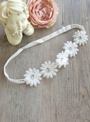 bandeau vintage blanc avec fleurs