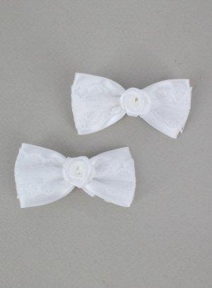 pinces et barettes blanc
