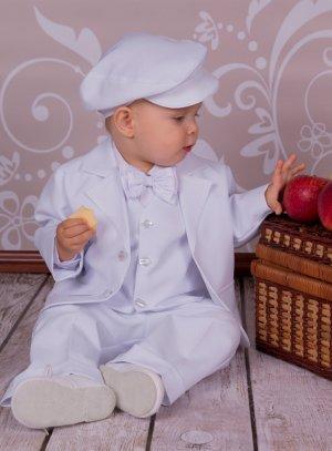 casquette blanche bébé garçon