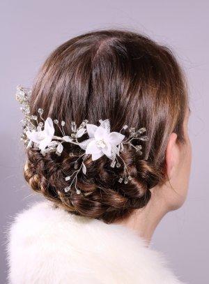 bijoux de tête et strass blanc