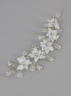 diadème mariage coiffure de mariée avec fleurs et strass