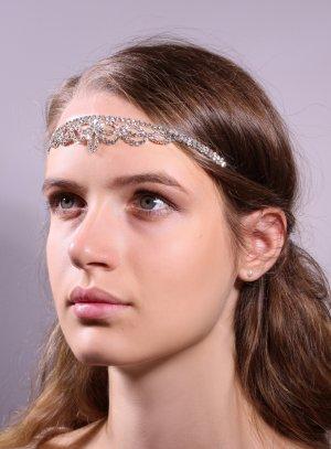 bijoux de tête et strass gris argent