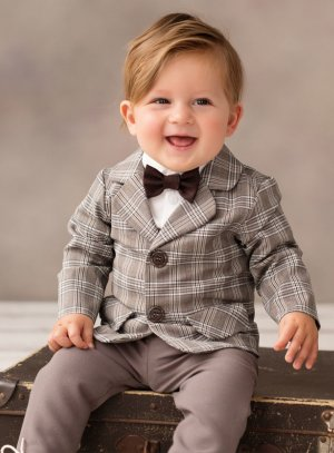 veste mariage baptême bébé garçon champêtre chic