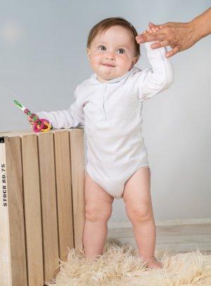 body blanc bébé fille baptême manches longues