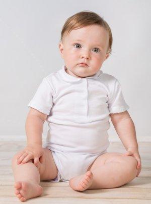 Body blanc bébé fille pour baptême cérémonie manches courtes