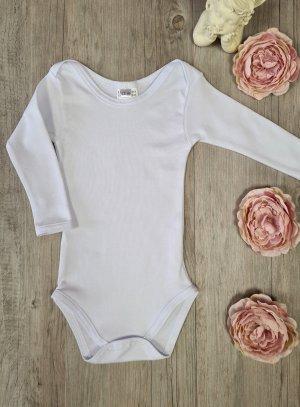 body coton bébé col américain manches longues