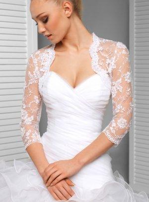 boléro femme dentelle blanche pour mariage
