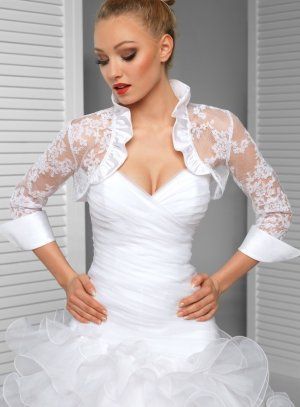 boléro mariage blanc