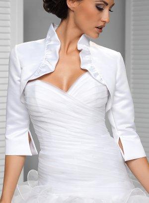 bolero satin blanc mariée