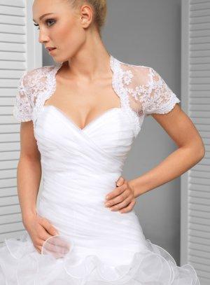 boléro mariée mariage dentelle blanche manches courtes