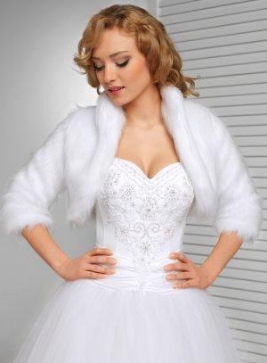 manteau fourrure mariage blanc fourrure poils longs