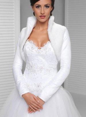 veste mariage hiver blanche pour femme