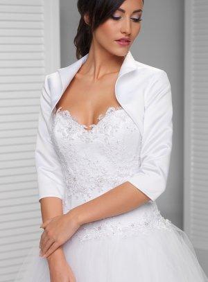 boléro satin blanc femme pas cher pour cérémonie mariage