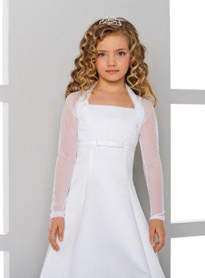 boléro, gilet, veste de cérémonie fille blanc