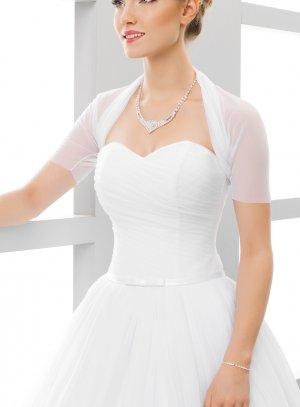 boléro mariage mousseline blanche manches courtes