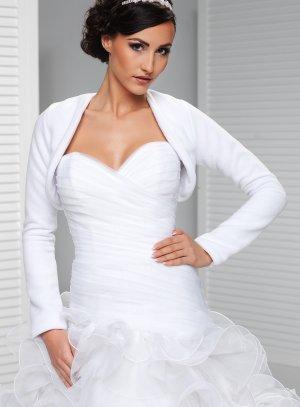 boléro mariage hiver en polaire blanche pour femme