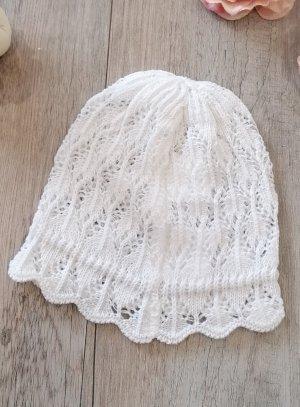 bonnet crochet bébé fille blanc