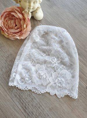 bonnet dentelle bébé blanche